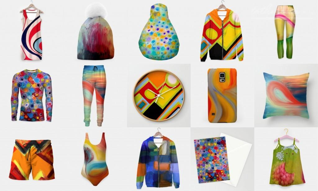 NEW! My paintings already on clothes and consumer products!