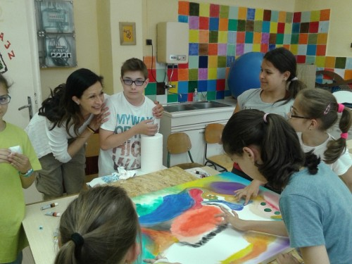 Gyereknapi ujjal festés a Liszt Iskolában