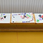 Finger Painting Day in the kindergarten