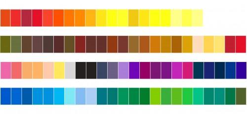 tavolozza di colori